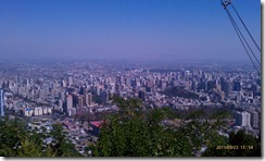 view from Cerro San Cristobal, Santiago de Chile