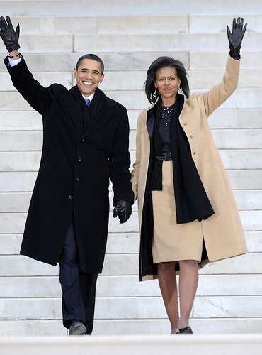 President Barack Obama and first wife Michelle Obama