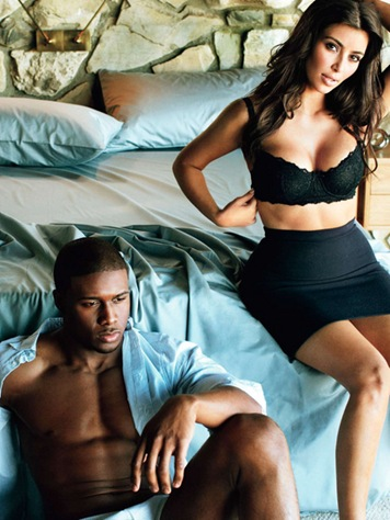 Kim Kardashian and Boyfriend Reggie Bush 2009 April GQ Magazine picture