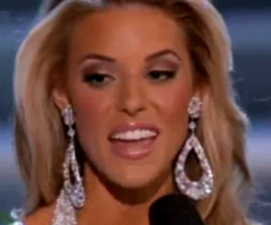 Miss California Carrie Prejean at the Miss USA beauty pageant in Las Vegas photo