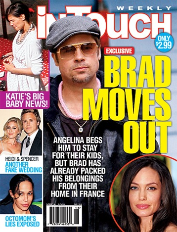 Brad Pitt Angelina Jolie In touch weekly cover