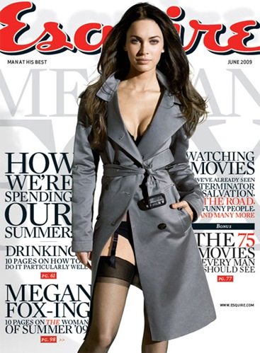 Megan Fox Esquire  June 2009 cover photo