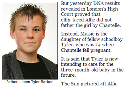 Tyler Barker photo the real father of Chantelle Stedman daughter Maisie Roxanne