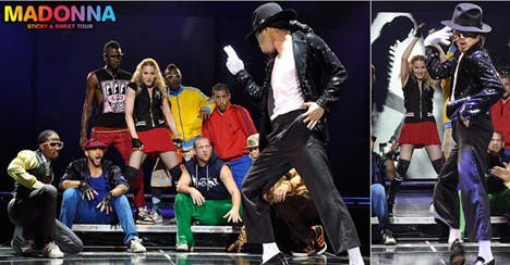Madonna Pays Tribute to Michael Jackson on Sticky & Sweet show at London's O2 Arena Picture