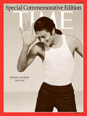 Michael Jackson Time Magazine Special Commemorative Editon cover photo
