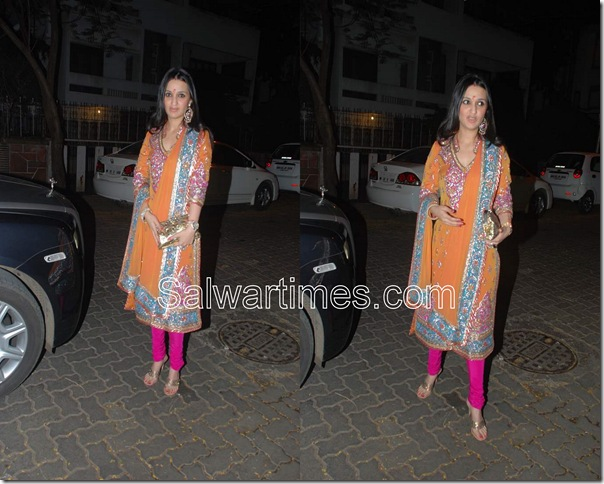 Orange_Designer_Salwar Kameez (1)