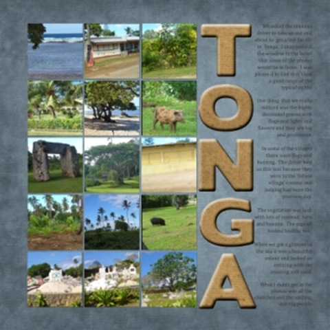 Block of Squares  tonga