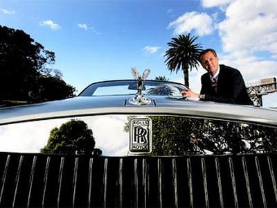 Car rich man