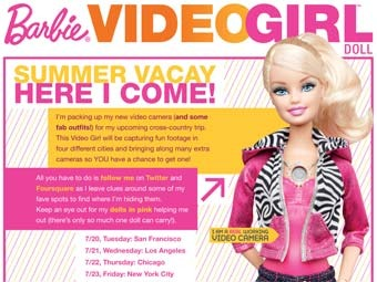 Barbie will connect to social network of Foursquare