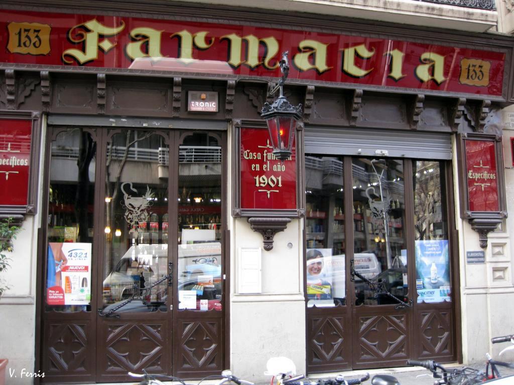 Farmacia madro al barcelona modernista - Calle borrell barcelona ...