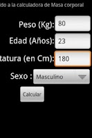 Screenshot of Calculadora Masa Corporal