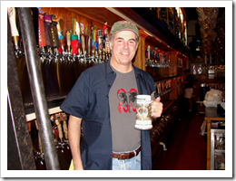 image of Phil at his favorite Pub (note, the Big Time shirt) courtesy of Wyknoop Brewery's website