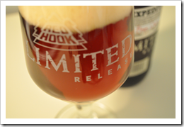 image of a recently filled glass of Limited Release 8-4-1 Expedition courtesy of our Flickr page