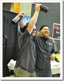 image of Black Raven's Beaux Bowman and Andy Lapworth holding their 2nd and 1st Place Trophies courtesy of our Flickr page