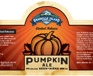 image of Grainville Island Pumpkin Ale, courtesy of the brewery