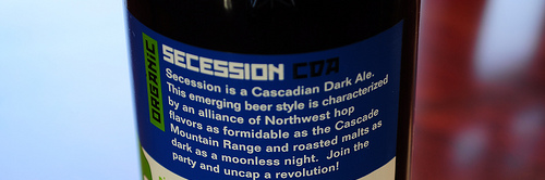 image of Secession Cascadian Dark Ale courtesy of our Flickr page