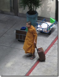 Monk at airport
