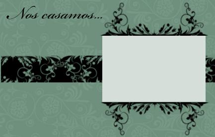 invitacion boda en color verde viejo para imprimir