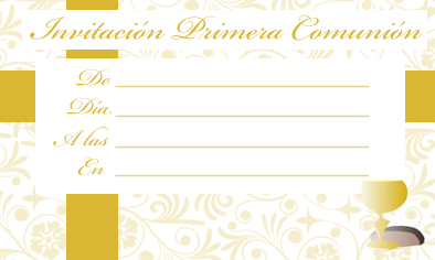 invitacion de comunion para descargar gratis, invitation of communion for free download