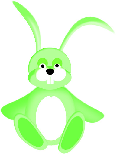 picture of green bunny