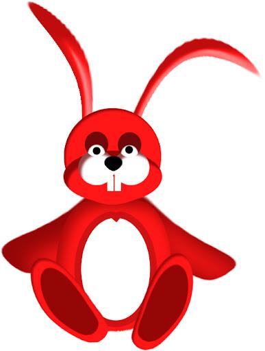 imagen de conejo rojo, picture of red bunny