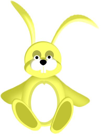 imagen de conejo amarillo, picture of yellow bunny