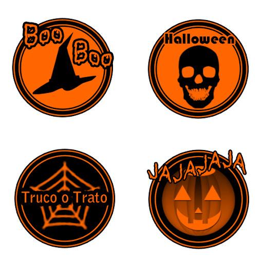 etiquetas de halloween para imprimir y recortar