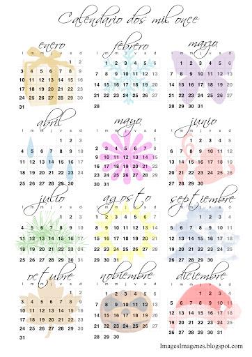 Para Probarlo Hoy Publico El Primer Calendario Para Descargar