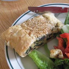 Mushroom, Spinach And Cheese Pie