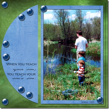 Caleb 70 Fishing with dad
