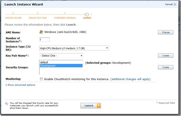 Launch Instance Wizard