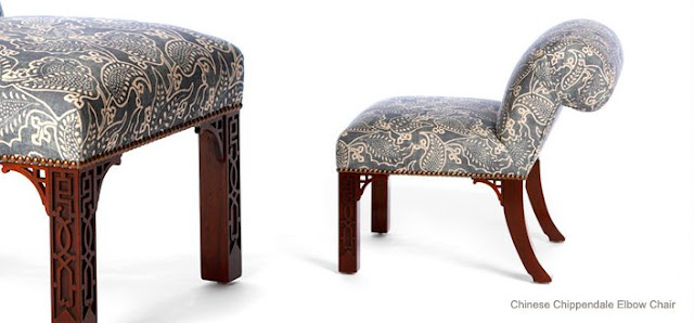 Chinese Chippendale Elbow Chair.  Picture: William Haines, Inc.
