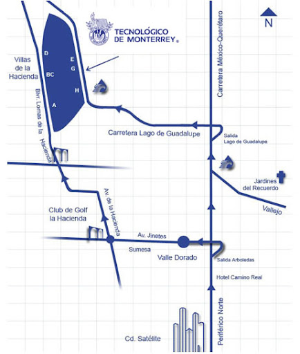 ITESM-CEM: Mapa de Cómo llgar