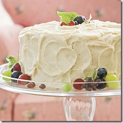 Cake with frosted grapes