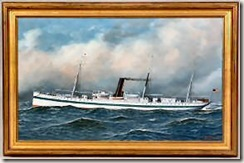 Hospital Ship Missouri painted by Jacobsen