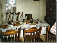 1980 12 25 Christmas dinner at the Petroffs