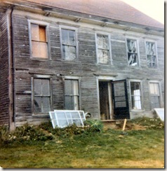 1973 09 Former home of Stephen and Mary Billings, Millay Road, about to be torn down