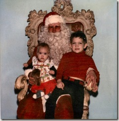 1980 12 Cordelia and Niels with Dayton's Santa