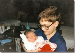 1984 12 25 Niels holding Elinor