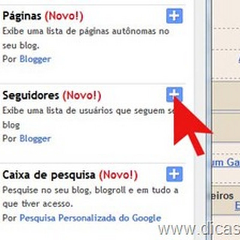 Como usar o gadget seguidores do Blogspot