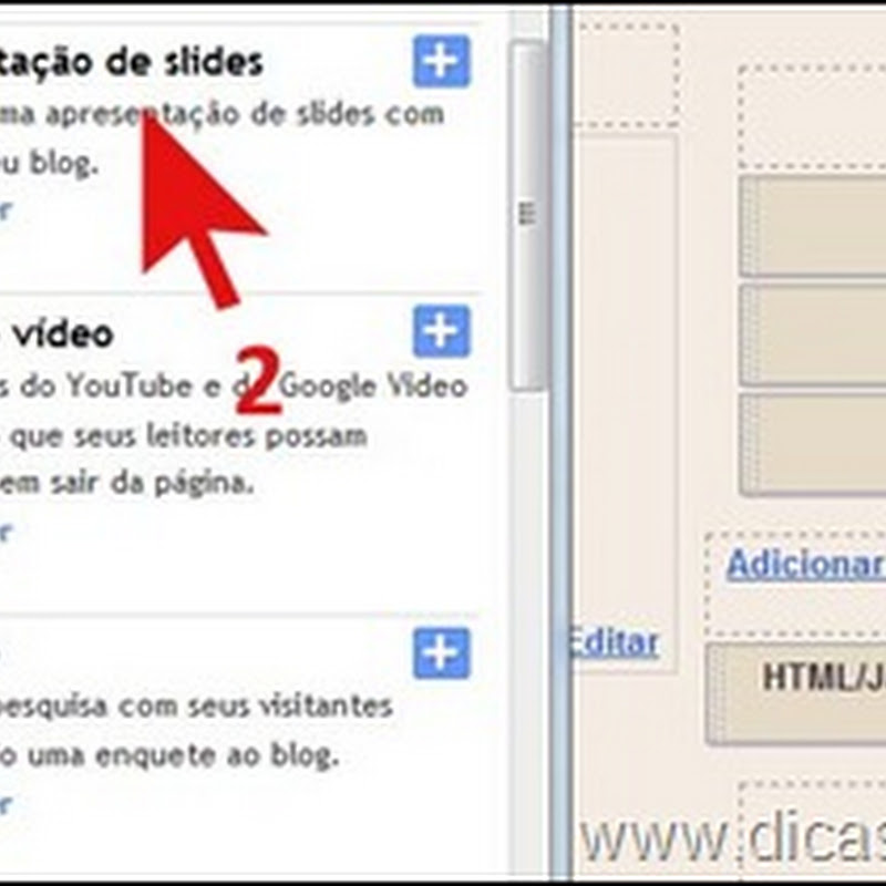 Como colocar slides em blogs do Blogger/Blogspot