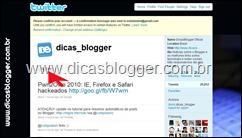 Seguindo o Dicas Blogger