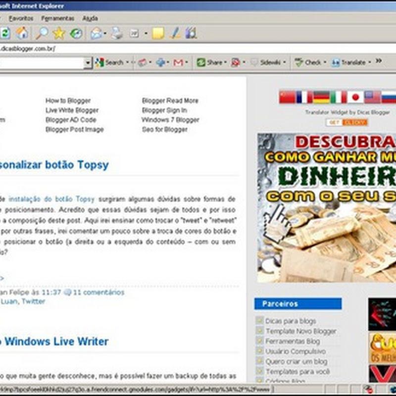 Cuidados com o layout do seu blog
