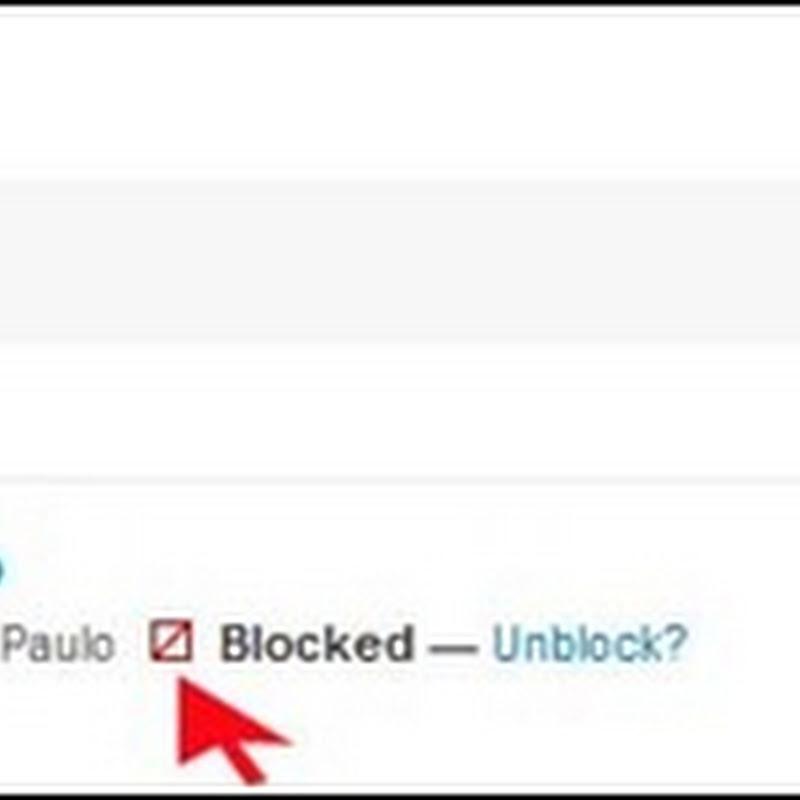 Você foi bloqueado no Twitter?