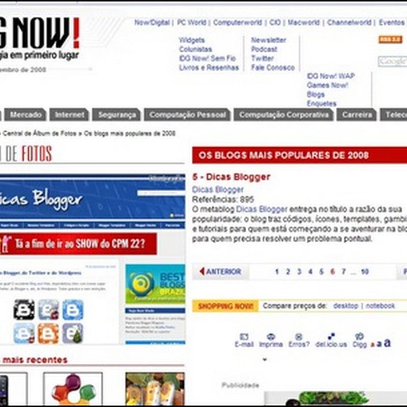 Dicas Blogger no ranking do IDGNow!