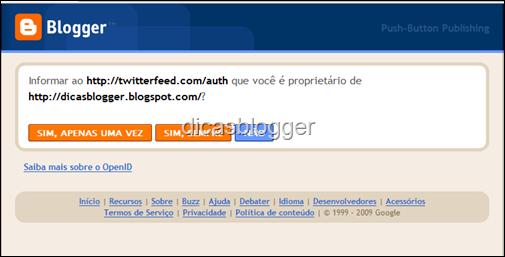 login to Blogger