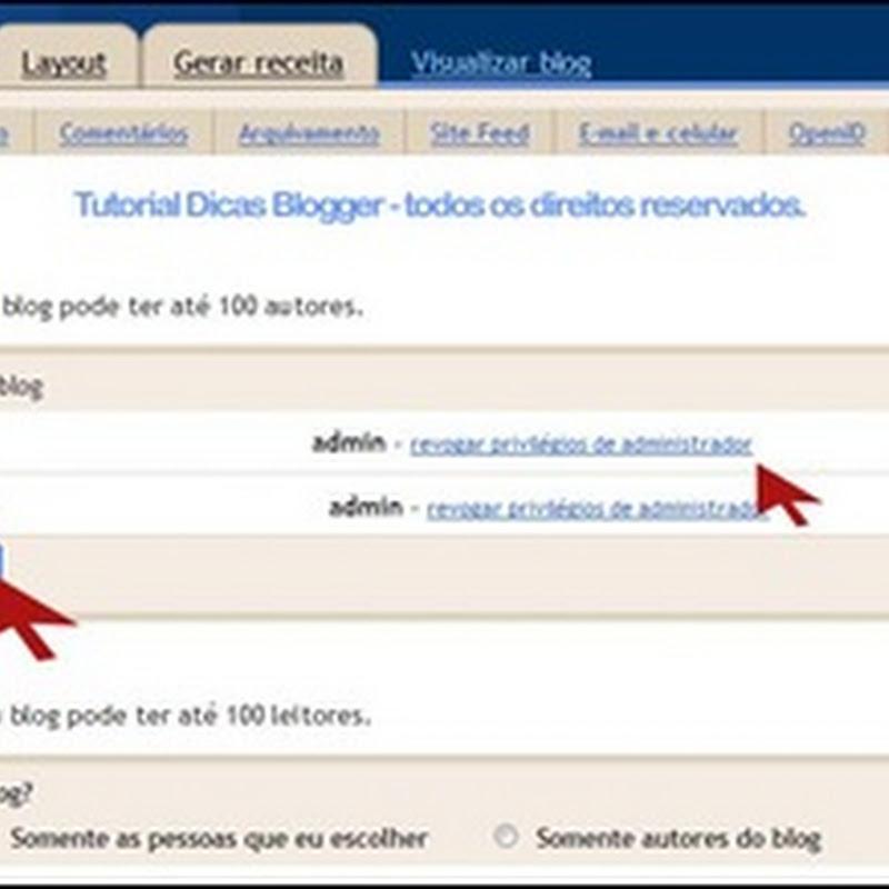 Como colocar vários autores no blog
