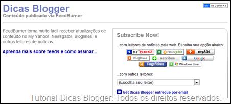 Página do Dicas Blogger