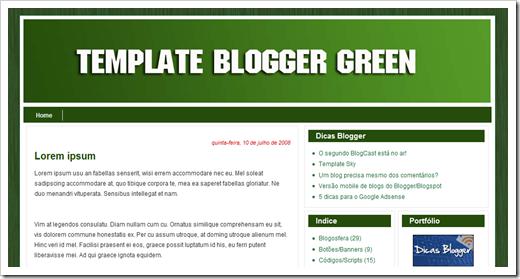 Blogger Green