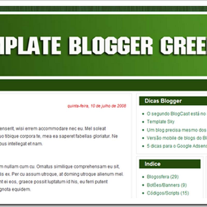 Template Blogger Green